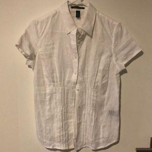 Lauren Ralph Lauren Linen Button Up Blouse